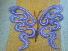 DIY bobbin lace butterfly