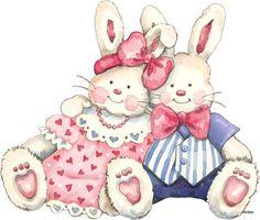 Decoupage 4 - miriam sosa - Picasa Web Albums Tatty Teddy, Baby Shower Clipart, Rabbit Art, Cute Clipart, Cute Animal Videos, Cute Images, Cute Bunny, Cute Illustration, Kids Cards