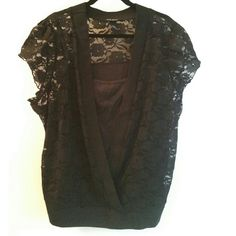 Lane Bryant Black Lace Top with Camisole, Fits 22 This Lane Bryant Black Lace Top with Camisole is gently used, in good used condition. The tag calls this a 26/28, but it fits like a plus size 22. It has a lace top with a plunging v-neck and a connected black camisole for underneath. There's a tiny bit of pilling beginning on the band around the neckline at the back. Hand wash or gentle cycle this lace and there's lots of life left in this classic style! In my opinion this would be too small…