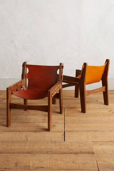 Leather Sling Chair - anthropologie.com