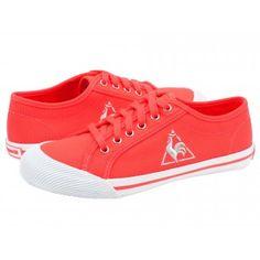 Tenisi dama Le Coq Sportif Deauville Fluo fiery coral Converse, Coral, Adidas, Sneakers, Shoes, Fashion, Tennis, Moda, Zapatos
