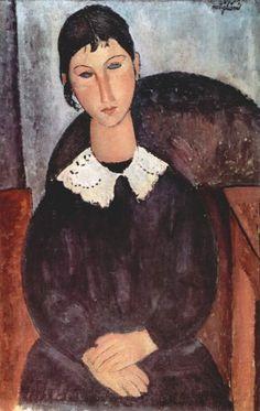 Elvira au col blanc - Amedeo Modigliani