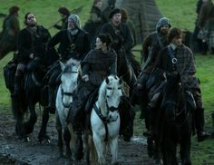 """Episode 212 """"The Hail Mary"""" of Outlander Season Two on Starz https://outlander-online.com/ with Sam Heughan as Jamie Fraser and Caitriona Balfe as Claire Fraser"""