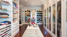 The glass doors give this closet a museum-worthy display.