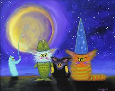 Halloween Cranky Cats in Costumes    Available for purchase from www.CrankyCats.com    Copyright owned by Cynthia Schmidt