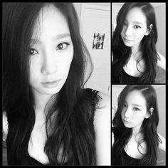 SNSD Taeyeon black Instagram selca