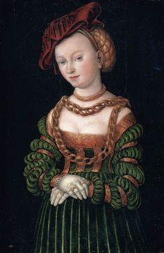 1525-1535 Lucas Cranach the Elder - Portrait of a Young Woman
