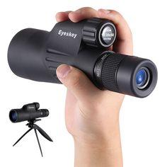 Eyeskey 10-30x50 Zoom Focus Lens Monocular HD Night Vision Telescope BAK4 Prism With Phone Holder