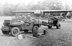 Brit gun jeep from Horsa glider Military Jeep, Military Vehicles, Ww2 Aircraft, Aircraft Photos, Airborne Army, Green Jeep, Ww2 Photos, Ww2 Pictures, Willys Mb