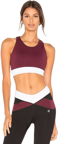 SHOP | Body Language Zara Sports Bra in Burgundy. - size M (also in S,XS)