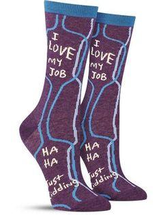 i love my job cool colroful novelty socks by blue q