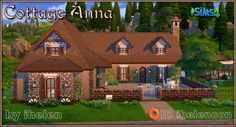 Cottage Anna by ihelen at ihelensims via Sims 4 Updates
