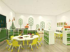 Preschool Furniture, Classroom Furniture, Nursery Furniture, Cabinet Furniture, Kids Furniture, Furniture Sets, Furniture Design, Daycare Design, Classroom Design