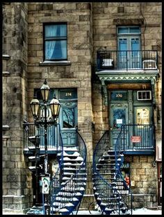 Twin Stairs, Montreal, Canada  photo via globe...so cool
