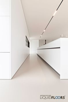 The all white kitchen with great lining Minimalist Kitchen Great Kitchen Lining white Track Lighting Bedroom, Modern Track Lighting, Modern Kitchen Lighting, Modern Kitchen Design, Interior Design Kitchen, Casa Kardashian, Interior Minimalista, White Kitchen Decor, Kitchen Ideas