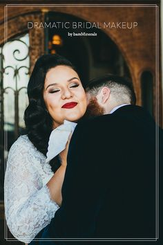 Dramatic wedding makeup | Photo by Phil Chester | 100 Layer Cake @bareMinerals #gobare