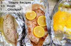 3 different tilapia meals in ONE crockpot!! YUM!
