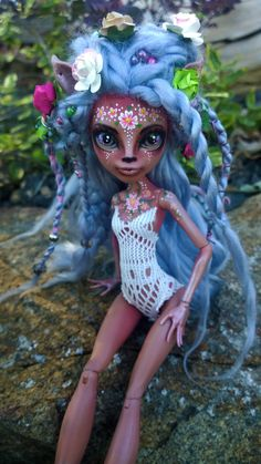 """Faewren"" custom OOAK Isi Dawndancer monster high doll by @LadySpoonArt"