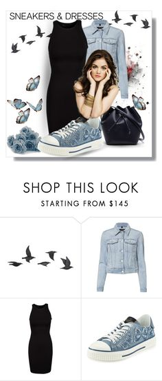"""""""Sneakers and Dresses"""" by prettyangel-1 ❤ liked on Polyvore featuring Jayson Home, J Brand, Valentino and Lacoste"""