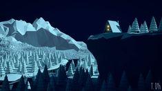 low poly - winter cabin night by xxxscope001xxx on DeviantArt