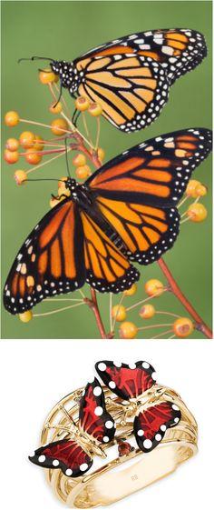#robertobravo Inel Roberto Bravo Monarch Butterfly