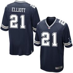 Ezekiel Elliott Dallas Cowboys Navy Blue NFL Jersey