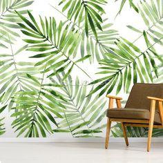FD24136 Solstice Tropical Green Leaf fine d/écoration int/érieure Papier peint