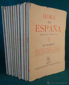 HORA DE ESPAÑA. VALENCIA. 1937 - NUMEROS DEL 1 A 13 estalcon@gmail.com  ========================== =========== VENDIDO =======