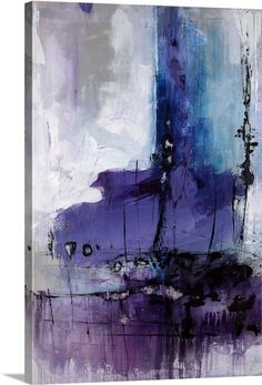 """Donde"" purple abstract art by Joshua Schicker from Great BIG Canvas."