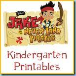 Free Jake & the Never Land Pirates Printables {PreK, Kindergarten} from @1plus1plus1