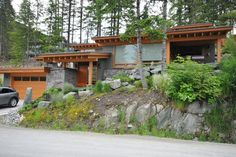 Modern West Coast home at Whistler; Photo by Jeff Kuly