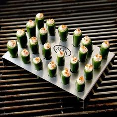 Grilltop Jalapeno cooker with personalized initials for your grillmaster groomsmen