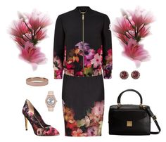 """""""flores"""" by ebramos ❤ liked on Polyvore featuring Ted Baker"""