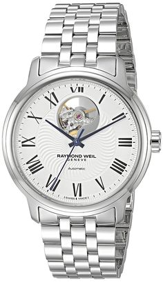 Raymond Weil Men's 'Maestro' Swiss Automatic Stainless Steel Casual Watch, Color:Silver-Toned (Model: 2227-ST-00659) ** Read more reviews of the product by visiting the link on the image. (This is an Amazon Affiliate link and I receive a commission for the sales)