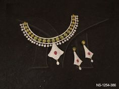 NS-1254-386 | STAR ROUND POLO STYLE RHOMBUS AD NECKLACE SET