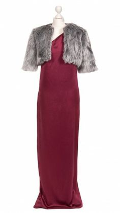 DRESSEOS abrigo corto de piel sintética gris - Faux fur gray jacket - Dresseos