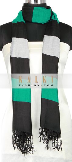 Buy Online from the link below. We ship worldwide (Free Shipping over US$100) http://www.kalkifashion.com/multi-color-scarf-enhanced-in-tassels-only-on-kalki-14481.html