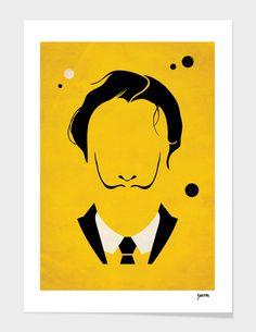 Great Modern Masters - minimalist art posters by Barletta, Salvator Dali Art And Illustration, Kunst Poster, Poster S, Arte Pop, Dali, Poster Minimalista, Minimal Art, Pop Art Decor, Silkscreen