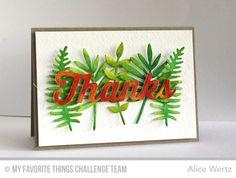Many Thanks Die-namics, Wild Greenery Die-namics - Alice Wertz  #mftstamps