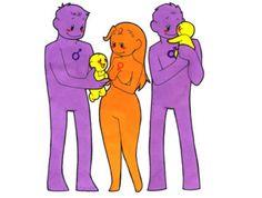 Saguinus Esses macacos podem ter todas as combinações possíveis de famílias. Desde um macho com uma fêmea até onde a imaginação permitir. Mesmo assim, a mais comum é uma fêmea com dois machos. E isso faz sentido porque elas quase sempre geram gêmeos. Os dois companheiros cuidam dela durante a gravidez e, após o nascimento, cuidam cada um de um filhote.