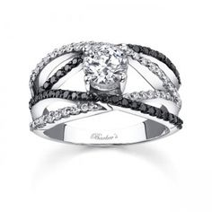 Barkev's black and white diamond engagement ring setting. Yep this is my absolute dream ring!!
