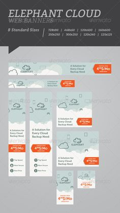 Elephant Cloud Web Banners Template PSD | Buy and Download: http://graphicriver.net/item/elephant-cloud-web-banners/5072299?WT.ac=category_thumb&WT.z_author=floringheorghe&ref=ksioks