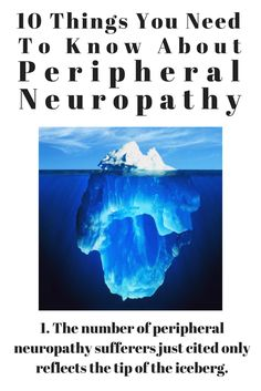 The number of peripheral neuropathy sufferers just cited only reflects the tip of the iceberg.