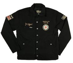 Warson Motors Jo Siffert Heavy Driver Black Jacket Heavy weight Cotton Jacket, perfect for the cooler months Inspired by the Swiss racing legend, Jo Siffert and his time racing for BRM (British Racing Motors) in Formula 1 Racing Team, Cotton Jacket, Canada Goose Jackets, Motors, Chef Jackets, Winter Jackets, Formula 1, British, Inspired