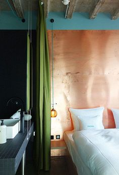 Make a copper headboard. | 26 Insanely Adventurous Home Design Ideas That Just Might Work