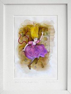 Alice in Wonderland Original Watercolor Painting from Biliana Savova