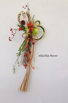 Tips On Sending The Perfect Arrangement Of Flowers Chinese New Year Flower, Japanese New Year, Japanese Style, Flower Boxes, Flower Frame, Flower Art, Dried Flower Arrangements, Dried Flowers, New Years Decorations