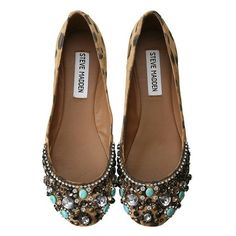 Steve Madden Embellished Flats via Polyvore. - Want!!
