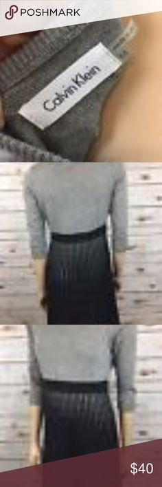 """Calvin Klein Striped Ombre Sweater Dress M Pleated Tag Size - M Bust Measured Across - 19"""" Length from Shoulder to Hem - 38"""" Great used condition! Calvin Klein Dresses Midi"""