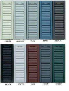 Shutter colors for gray siding shutter color chart - Home depot exterior paint color chart ...